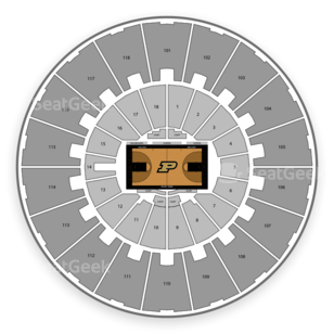 Purdue Boilermakers Womens Basketball Seating Chart