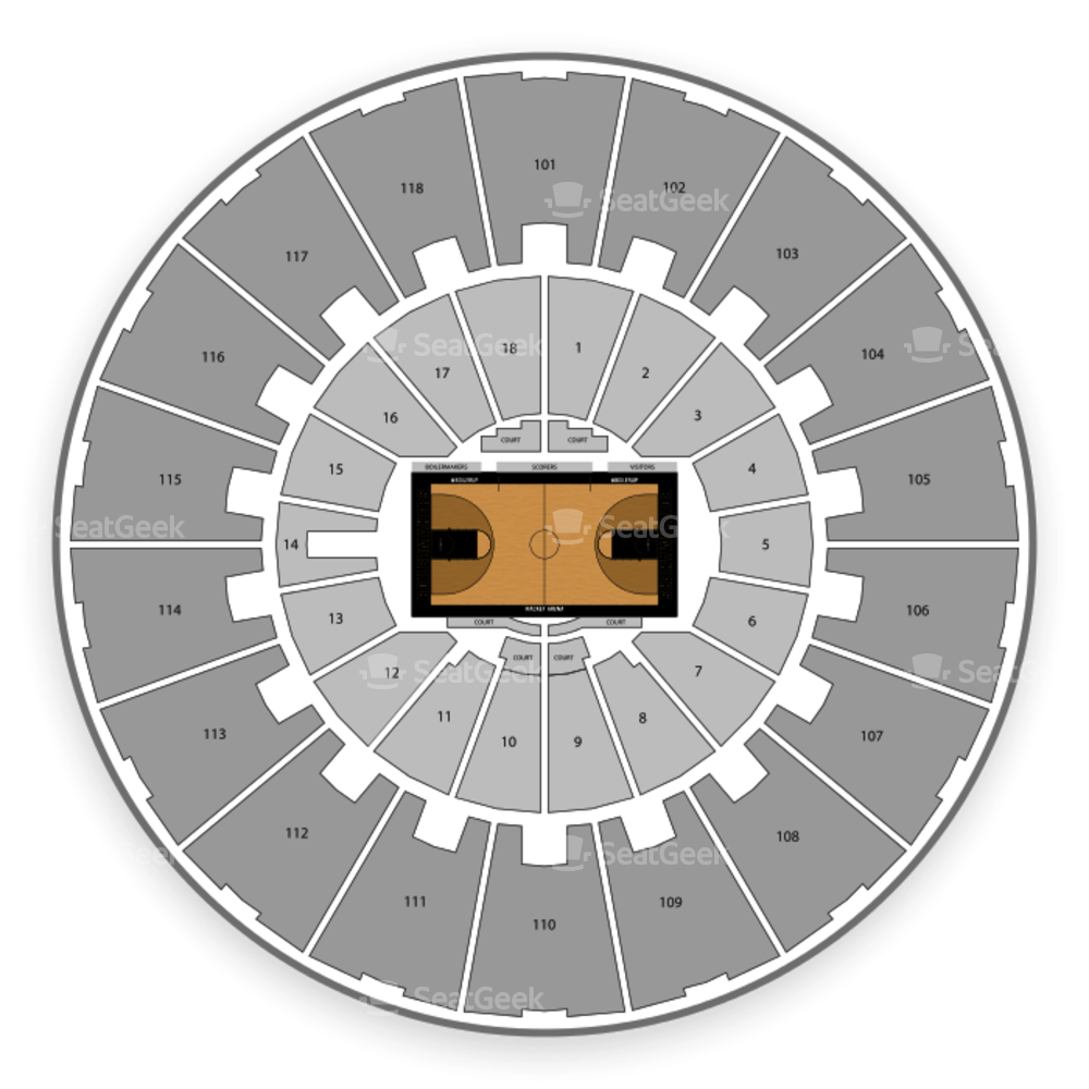 Purdue Boilermakers Basketball Seating Chart