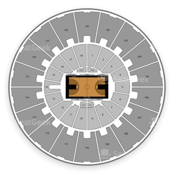Purdue Boilermakers Basketball at Mackey Arena Courstide View