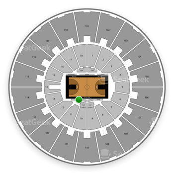 Purdue Boilermakers Basketball at Mackey Arena Courtside Floor View