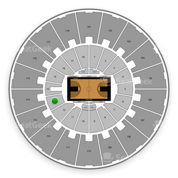 Purdue Boilermakers Basketball at Mackey Arena Lower 13 View