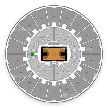 Purdue Boilermakers Basketball at Mackey Arena Lower 14 View