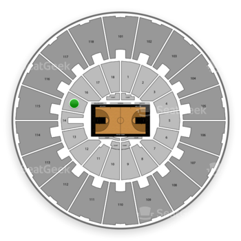 Purdue Boilermakers Basketball at Mackey Arena Lower 15 View