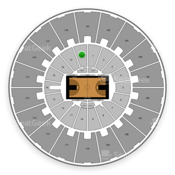 Purdue Boilermakers Basketball at Mackey Arena Lower 18 View