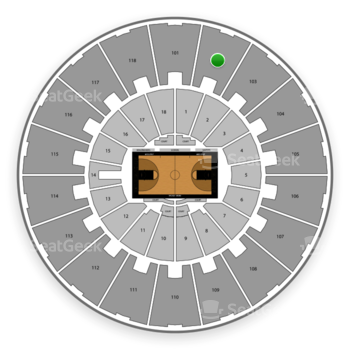 Purdue Boilermakers Basketball at Mackey Arena Upper 102 View
