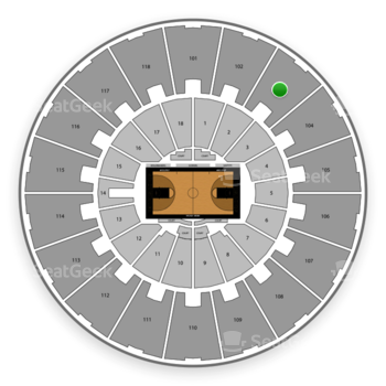 Purdue Boilermakers Basketball at Mackey Arena Upper 103 View