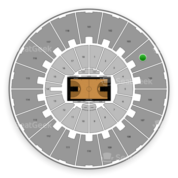 Purdue Boilermakers Basketball at Mackey Arena Upper 104 View