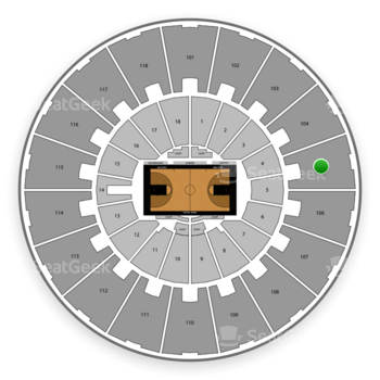Purdue Boilermakers Basketball at Mackey Arena Upper 105 View