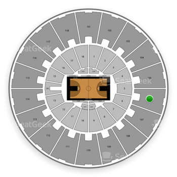Purdue Boilermakers Basketball at Mackey Arena Upper 106 View