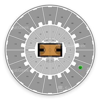 Purdue Boilermakers Basketball at Mackey Arena Upper 107 View