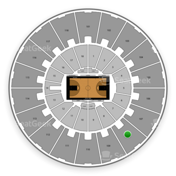 Purdue Boilermakers Basketball at Mackey Arena Upper 108 View