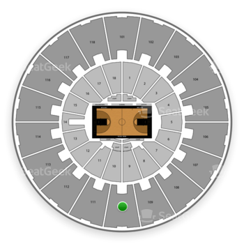Purdue Boilermakers Basketball at Mackey Arena Upper 110 View