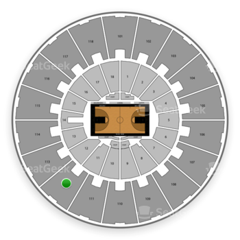 Purdue Boilermakers Basketball at Mackey Arena Upper 112 View