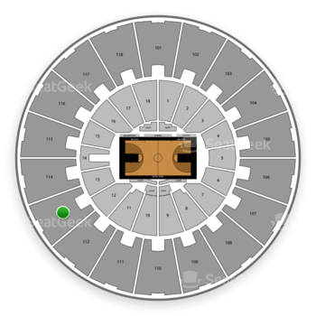 Purdue Boilermakers Basketball at Mackey Arena Upper 113 View