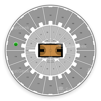Purdue Boilermakers Basketball at Mackey Arena Upper 115 View