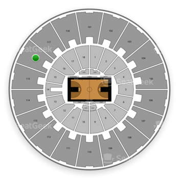 Purdue Boilermakers Basketball at Mackey Arena Upper 116 View