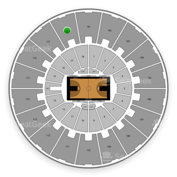 Purdue Boilermakers Basketball at Mackey Arena Upper 118 View