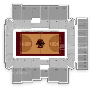 Boston College Eagles Hockey Seating Chart