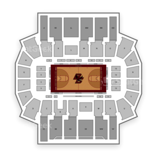 Boston College Eagles Basketball Seating Chart