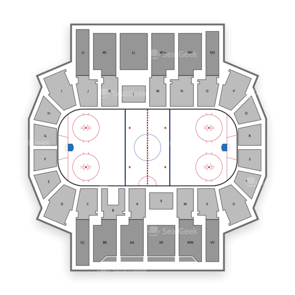 Silvio O. Conte Forum Seating Chart NCAA Hockey