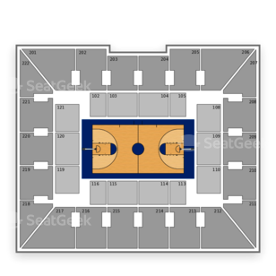 Penn Quakers Basketball Seating Chart