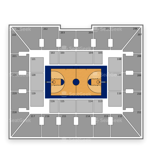 Pennsylvania Quakers Basketball Seating Chart