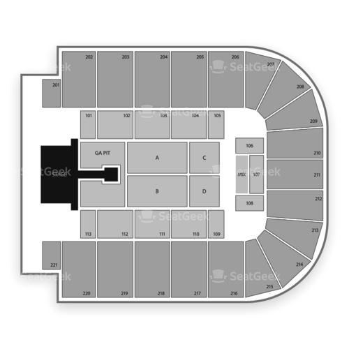 Bancorpsouth Arena Seating Chart Map Seatgeek