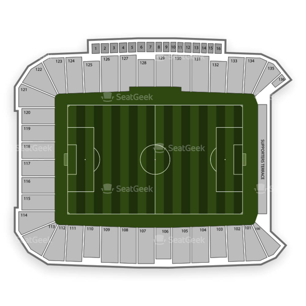 Dick's Sporting Goods Park Seating Chart International Soccer