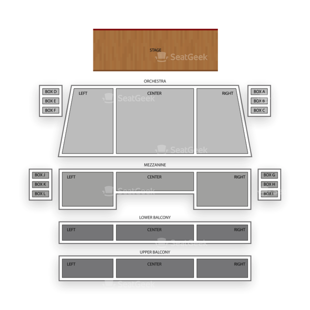 Spreckels Theatre Seating Chart Dance Performance Tour