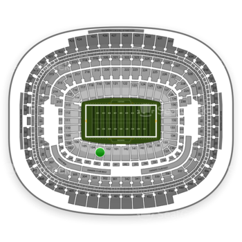 Washington Redskins at FedEx Field Section 103 View
