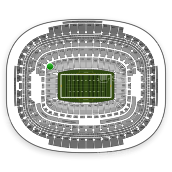 Washington Redskins at FedEx Field Section 115 View