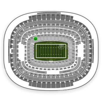 Washington Redskins at FedEx Field Section 117 View