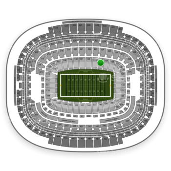 Washington Redskins at FedEx Field Section 124 View
