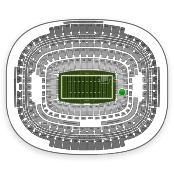 Washington Redskins at FedEx Field Section 133 View