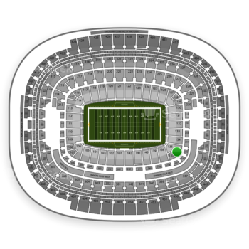 Washington Redskins at FedEx Field Section 136 View