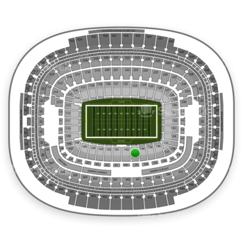 Washington Redskins at FedEx Field Section 141 View
