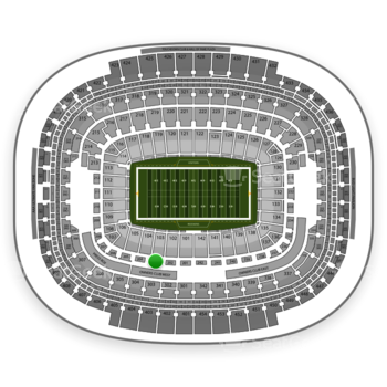 Washington Redskins at FedEx Field Section 203 View
