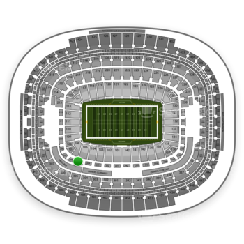 Washington Redskins at FedEx Field Section 205 View