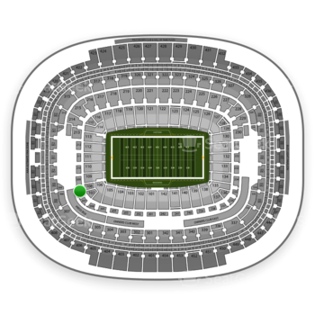 Washington Redskins at FedEx Field Section 208 View