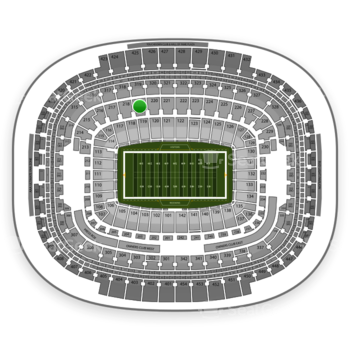 Washington Redskins at FedEx Field Section 219 View