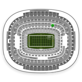 Washington Redskins at FedEx Field Section 225 View