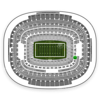 Washington Redskins at FedEx Field Section 234 View