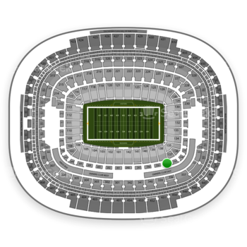 Washington Redskins at FedEx Field Section 238 View