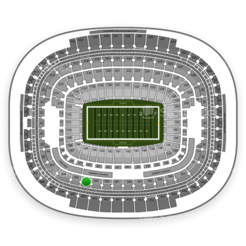 Washington Redskins at FedEx Field Section 304 View