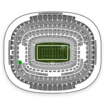 Washington Redskins at FedEx Field Section 309 View