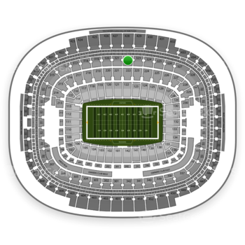 Washington Redskins at FedEx Field Section 322 View