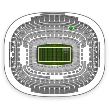 Washington Redskins at FedEx Field Section 325 View