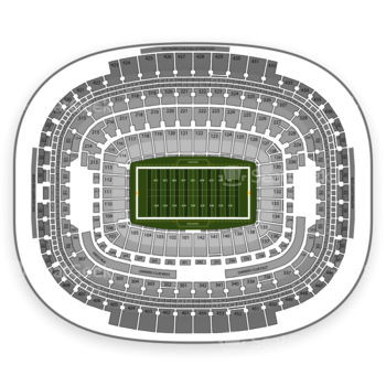 Washington Redskins at FedEx Field Section 333 View