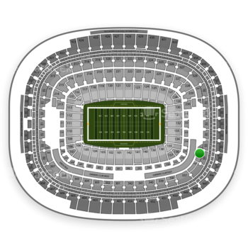 Washington Redskins at FedEx Field Section 335 View