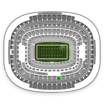 Washington Redskins at FedEx Field Section 341 View